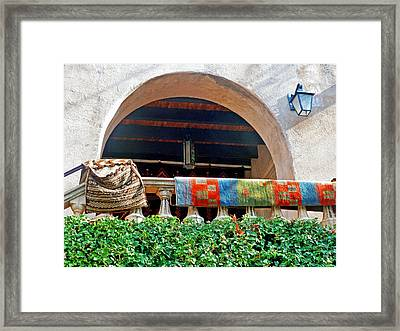 Framed Print featuring the photograph Tiaquepaque Market Balcony by Helen Haw