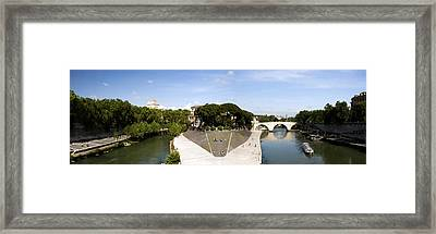 Tiber Island Framed Print by Fabrizio Troiani