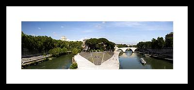 Tiber Island Framed Prints