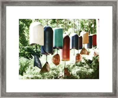 Tibetan Wind Chimes Framed Print by Heidi Hermes