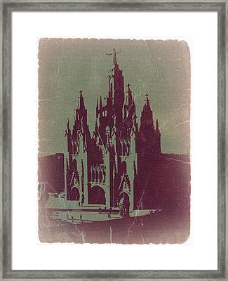 Tibidabo Barcelona Framed Print by Naxart Studio