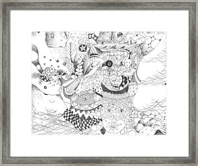 Tick Tack Toe With The Universe Framed Print by Helena Tiainen