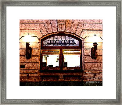 Ticket Booth Framed Print by Anne Raczkowski