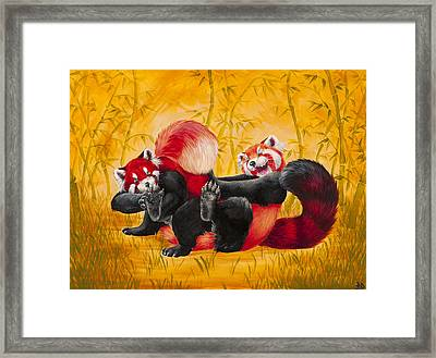 Tickle Fight Framed Print