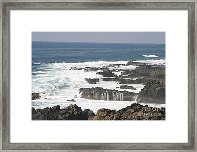 Tidal Falls Framed Print