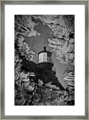 Tidal Pool Reflection Framed Print by Robert Clifford