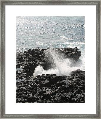 Tidal Spike Framed Print by Anthony Trillo