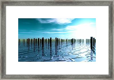 Tide Is Out... Framed Print