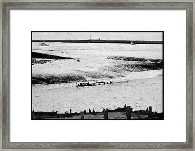 Tides On The Wane. Framed Print