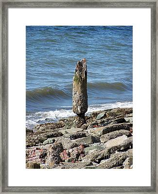 Tides Toll Framed Print by KD Johnson