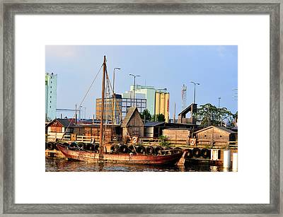 Tied Up Framed Print by Barry R Jones Jr