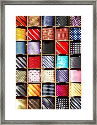 Ties Framed Print by Brian Mollenkopf