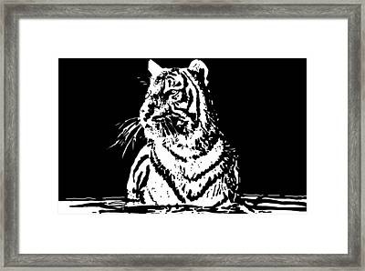Tiger 1 Framed Print by Lori Jackson