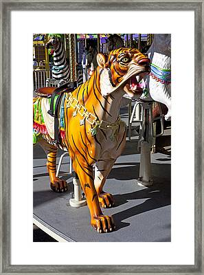 Tiger Carousel Ride Framed Print by Garry Gay