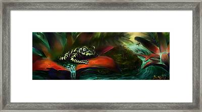 Tiger Frog Framed Print by Rephfy