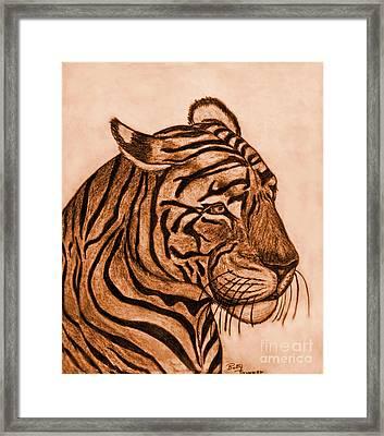 Tiger IIi Framed Print by Debbie Portwood