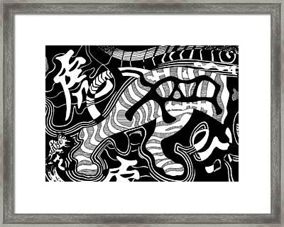 Tiger Legs Framed Print