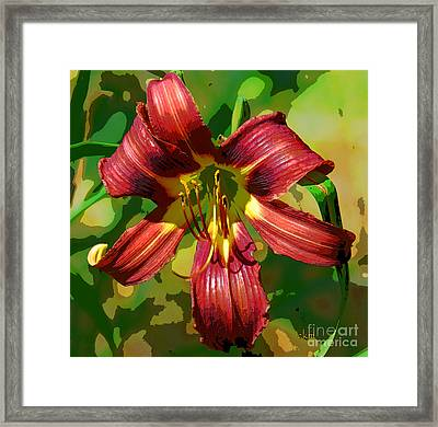 Framed Print featuring the photograph Tiger Lily by Cindy Manero