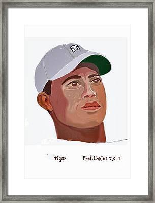 Tiger Portrait Framed Print by Fred Jinkins