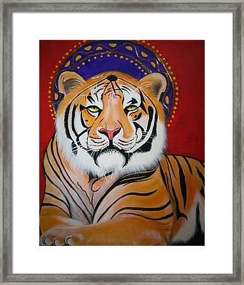 Tiger Saint Framed Print by Christina Miller
