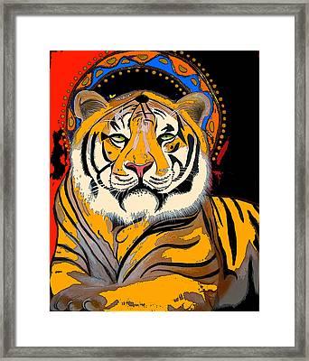 Tiger Saint Photoshop Framed Print by Christina Miller