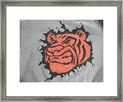 Tiger Splatter Custom Painted Crewneck Sweatshirt Framed Print by Joseph Boyd
