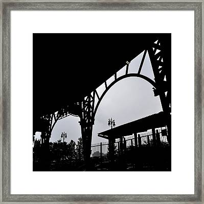 Tiger Stadium Silhouette Framed Print by Michelle Calkins