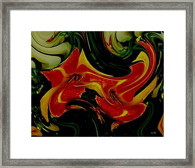 Tigers On The Prowl Abstract Framed Print by Rene Crystal