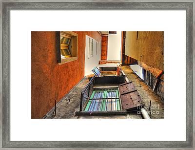 Tight Patio Framed Print by Mats Silvan