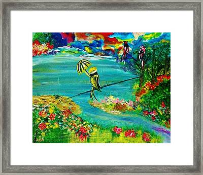 Tight Rope Framed Print