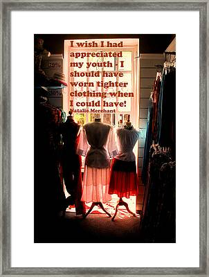 Tighter Clothing Framed Print by Ian  MacDonald