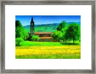 Tiglieto Abbazia Cistercense Framed Print