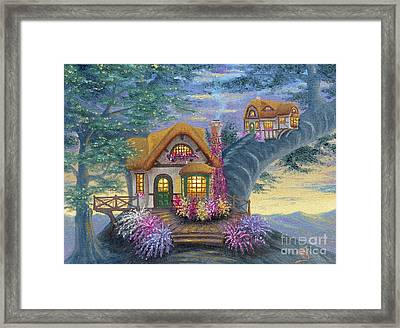 Framed Print featuring the painting Tig's Cottage From Arboregal by Dumitru Sandru