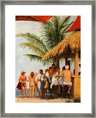 Tiki Bar Framed Print