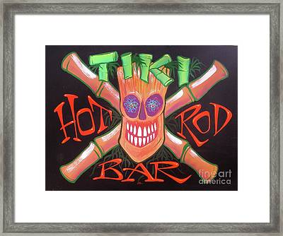 Tiki Hot Rod Bar Framed Print
