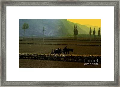 Framed Print featuring the photograph 'til The Day Is Done by Lydia Holly
