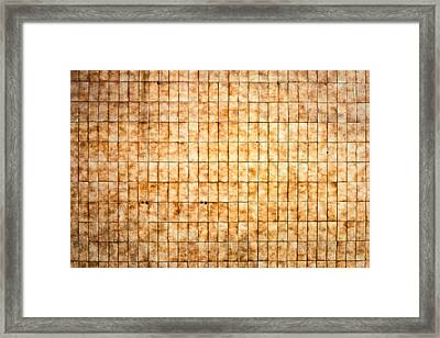 Tiled Wall Framed Print by Tom Gowanlock