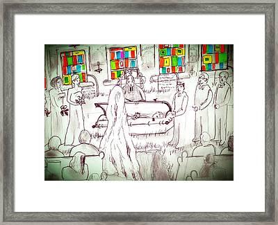 Till Death Do Us.... Framed Print