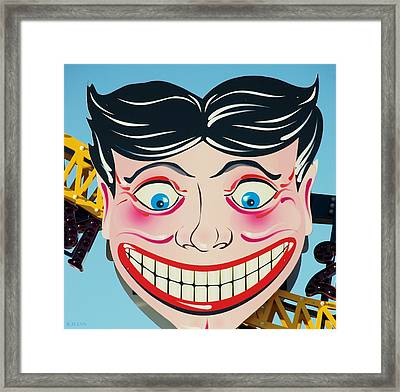 Tillie The Clown Of Coney Island Framed Print