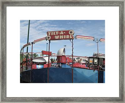 Tilt A Whirl Ride Framed Print