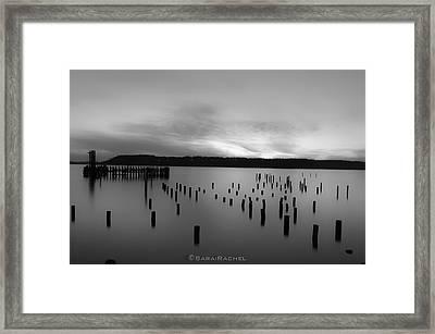 Tiltow Beach  In Black And White Framed Print by Sarai Rachel