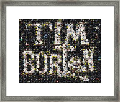 Tim Burton Poster Collection Mosaic Framed Print