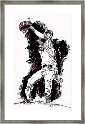 Framed Print featuring the painting Tim Lincecum by Terry Banderas
