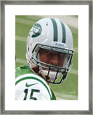 Tim Tebow Art Deco IIi - New York Jets -  Framed Print by Lee Dos Santos