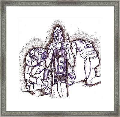 Tim Tebow Glory Framed Print