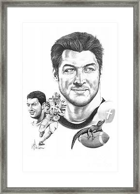 Tim Tebow-tim Tebow Framed Print by Murphy Elliott