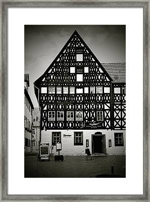 Timber-frame House Weimar Framed Print by Christine Till