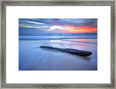 Timber On The Beach Framed Print by Teerapat Pattanasoponpong