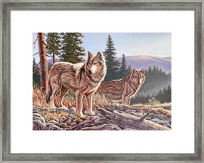 Timber Ridge Framed Print by Richard De Wolfe