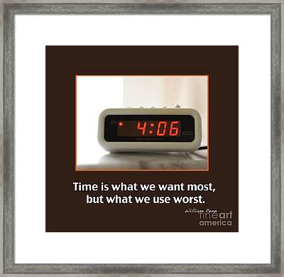 Time 2 Framed Print by Nancy Greenland